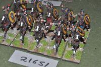 25mm roman era / roman - auxiliary 10 figs cavalry - cav (21651)