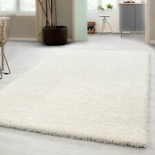 Small – Extra Large Size Thick Modern Plain Non Shed Soft Shaggy Rug Rec & Round 160x230 Cm Creme