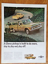 1969 Chevy Chevrolet Pickup Truck Ad Built to do more Day in Day Out Day Off