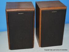 Sony SS-U3190 Bookshelf Speakers Set 60W 8 ohm Audio Sound System Wood USA Nice!