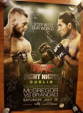 UFC Conor McGregor signed Rookie Poster Dublin Ireland FN 26 SBC MMA RC auto 1st