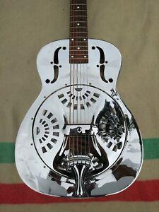Dobro Resonator Guitar, 1986 vintage! Round neck, silver color, nice low action.