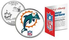 MIAMI DOLPHINS * Officially Licensed * NFL FLORIDA U.S. State Quarter Coin w/COA