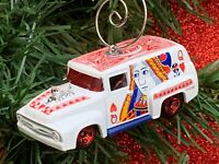 AUTO PARTS /'56 FORD PANEL DELIVERY TRUCK 1956 BLUE CHRISTMAS TREE ORNAMENT XMAS
