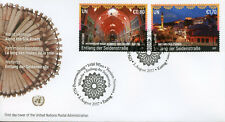 United Nations UN Vienna 2017 FDC UNESCO Along Silk Road 2v Cover Tourism Stamps