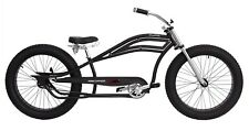 "MICARGI SEATTLE BLACK STRETCH CRUISER MENS 26"" BEACH CRUISER BICYCLE CUSTOM BIKE"