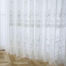 Guipure Floral Mesh Curtain Fabric Voile Gauze Window Panel Drape Divider