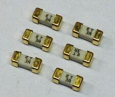 6 Stück 3A 125V Littelfuse 154003 Sicherungen mit Goldkontakt (M2041)