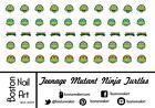 Teenage Mutant Ninja Turtles Waterslide Nail Decals - 50 PC - BNA-20009