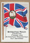 DRAPEAU British Empire britannique East Africa Zanzibar Residents FLAG CARD 30s