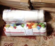 "Pottery Barn Stripe Tassel Table Throw Runner 50"" Tablecloth Festive New"