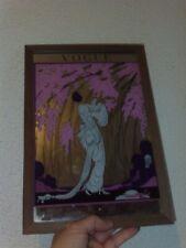 Cadre Vintage Miroir Vogue style art nouveau femme cerisier du Japon