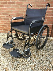 Lomax Self Propelled Folding Wheelchair With Brakes & Foot Supports