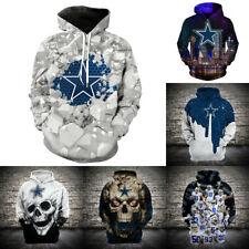 Dallas Cowboys Hoodies Casual Jacket Football Sweatshirts Hooded Pullover Coat