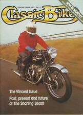 Classic Bike February 1980 Vincent Rapide  Comet  Black Lightning Sunbeam racer