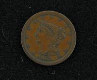 1851 Braided Hair Half Cent Coin 279019