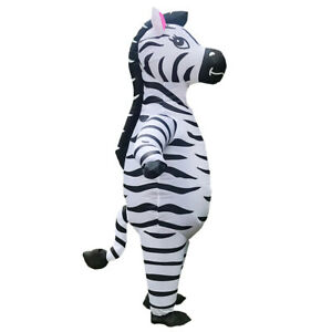 Inflatable Zebra Costumes Women Men Christmas Carnival Birthday Cosplay Outfits