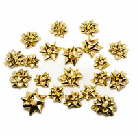 Assorted Size Christmas Present Gift Bows Choose Silver or Gold Free Postage