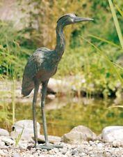 Bronzefigur Graureiher 53 | Bronze Fischreiher Gartenfigur Rottenecker