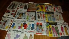lot of 20 sewing patterns simplicity, mcalls, woman, childrens, home