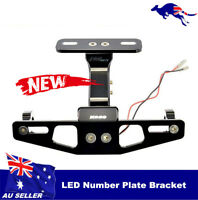 Universal Motorcycle Fender Eliminator License Plate Bracket Mounting ATV LED AU