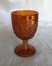 VINTAGE IMPERIAL CARNIVAL GLASS GRAPE PATTERN GOBLET