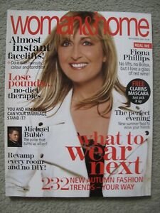 Woman & Home Magazine. Sept. 2007. Fiona Phillips cover. Like New