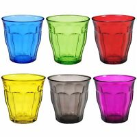 Duralex Picardie Multi Coloured Juice Water Tumblers Glasses Set 250ml x 6