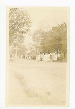 March at Caroga Lake NY? Rockwood? RPPC Antique Photo AZO ca. 1910s