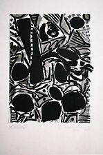 Helmut DITTMANN (1931-2000 Berlin) Schwarz-Weiß Tusch-Aquarell-Collage Juni 1977