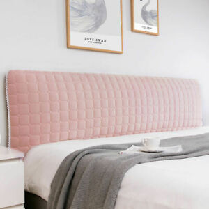 Short Plush Quilted Soft Headboard Cover Dust Proof Bed Head Back Protect Cover