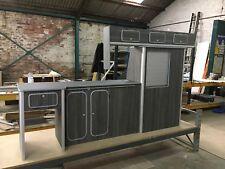 Vw T5/T6 light weight ply furniture units Vivaro Transit campervan Black Pine