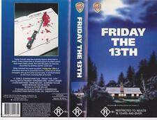 FRIDAY THE 13TH  HORROR WARNER HOME VIDE VIDEO PAL~ A RARE FIND