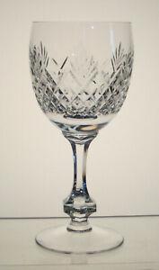 """BIRKS CRYSTAL Wine Glass 5 7/8"""", Hex Stem, VINTAGE BIRKS CRYSTAL STEMWARE, Unk"""