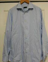 PAL ZILERI Men Dress Shirt SZ 43/17 blue