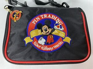 Walt DISNEY World Disneyland Parks PIN TRADING BAG WITH STRAP Mickey Mouse 7x5