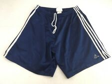 Vintage 90s Adidas Flag Tag navy blue white 3 stripe mesh basketball shorts XL