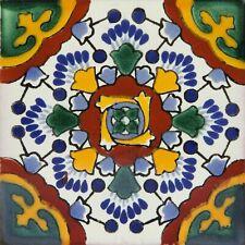 Kolorowy Zestaw Płytek ściennych jednego wzoru, Ceramika Talavera 30szt -Ricarda