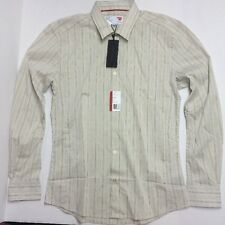 MASSIF COLLECTION Striped/Tan KIT Shirt CASUAL/DRESS SIZE Large Retail:$190