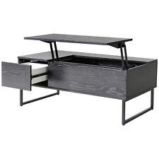 Tea Table Lift Top Coffee Wood Storage Tray Living Room Furniture Black