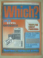 VINTAGE WHICH MAGAZINE MARCH 1978 CHEST FREEZERS - DISPOSABLE NAPPIES - COOKERS