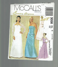 McCALLS pattern 3056 bustier shirt bolero shrug Sz 14 16 18 uncut evening bride