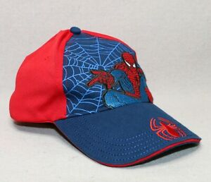 Marvel Spiderman Sense BOYS Red & Blue Movie Baseball Cap One Size