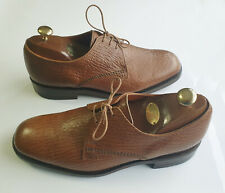 Men's LOAKE BROS Premium LINCOLN Brown Grained Leather Derby Shoes UK 8EE *VGC*