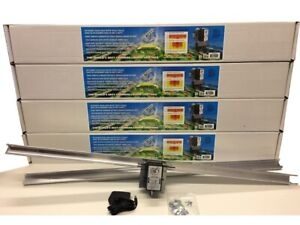 (4) Light Rail 4.0 Kit Motor w Rail Grow Light Mover Genuine Solidly Made in USA