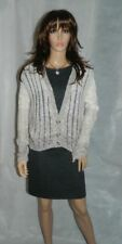 Papaya Weekend Cream Brown Knitted Cardigan Top size 12 NEW RRP £16