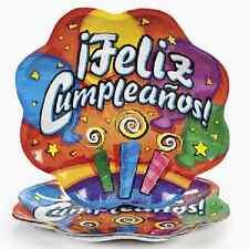 Feliz Cumpleaños Dinner Plates / LOT OF 8 PC / FIESTA PARTY (70/7747)