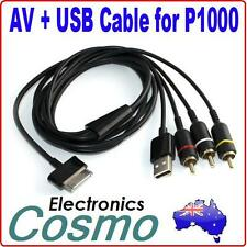 Composite RCA Video AV USB Charge Cable Cord for Samsung Galaxy Tablet P1000