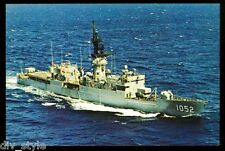 """USS Knox FF-1052 Postcard US Navy Fast Frigate """"first in her class"""" (card3of3)"""