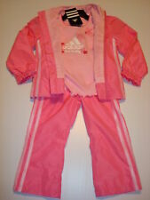 ADIDAS 3 Piece Girls Pink Track Suit Size 2T NEW